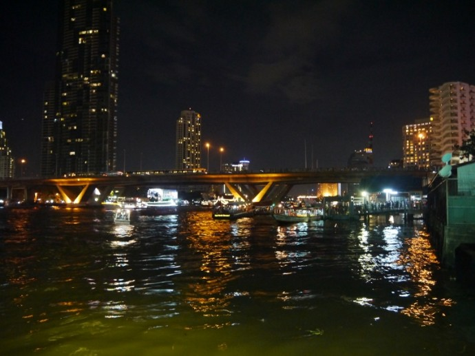 View Of Saphan Taksin Bridge From The Temple