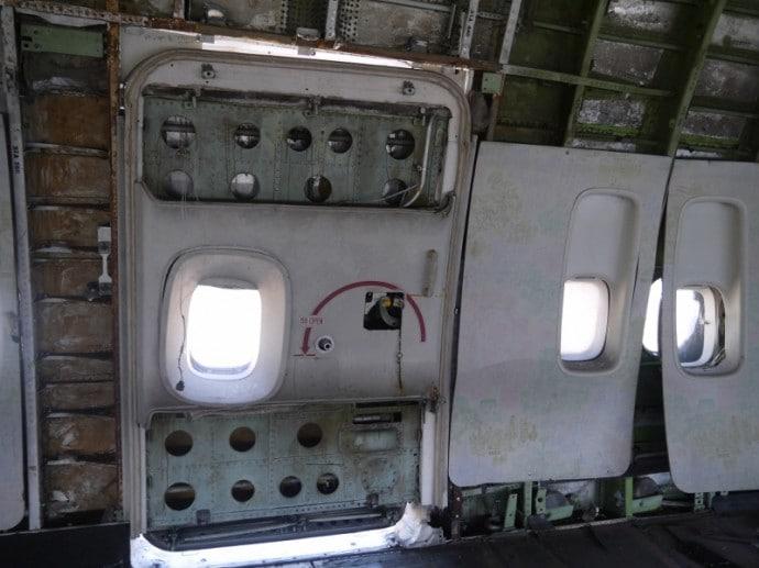 Front Door Of Abandoned 747 Airplane