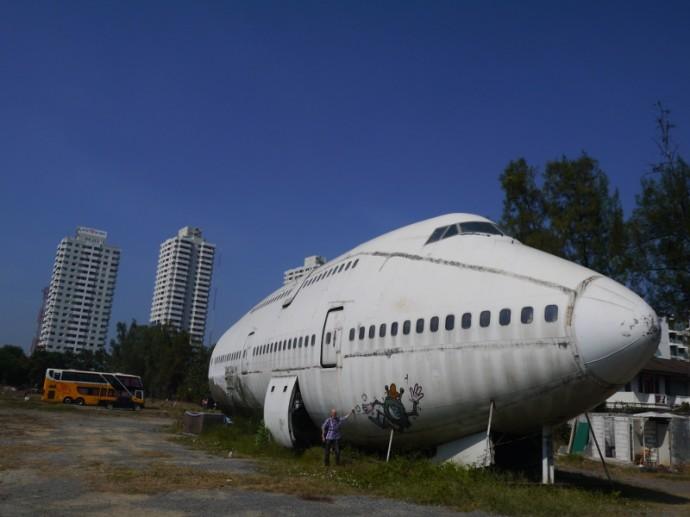 Abandoned 747 Airplane In Bangkok