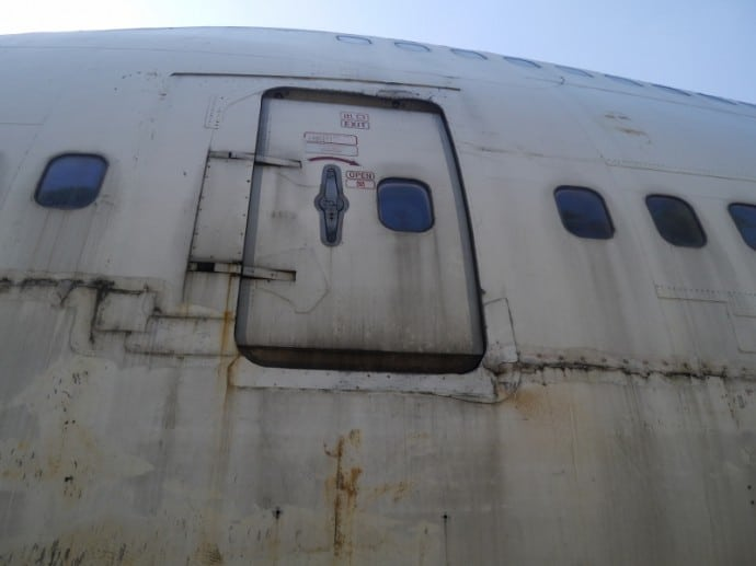 Exit Of Abandoned 747