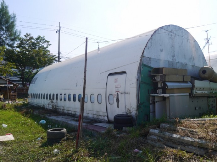 Abandoned 747 Converted Into Storage Shed