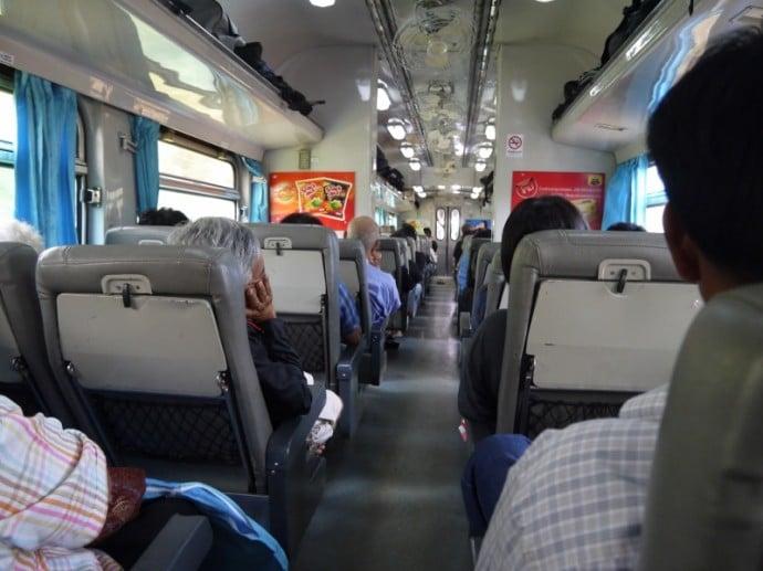 2nd Class Train Carriage From Bangkok To Chiang Mai