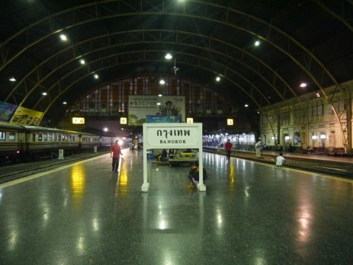 Platforms At Bangkok's Hua Lamphong Train Station