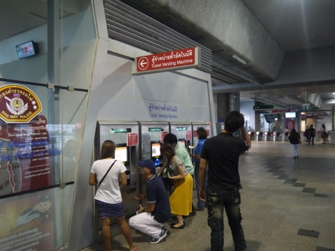 Ticket Machines At Phaya Thai Airport Link Station