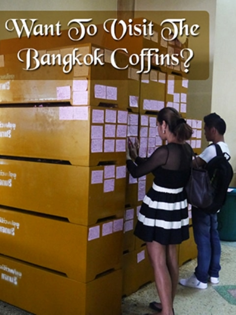 Donating Money For Coffins At A Bangkok Temple