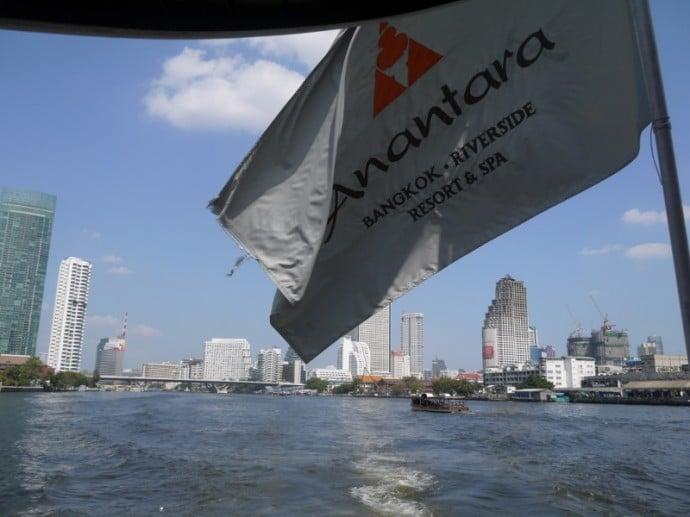 On Board The Boat To Anantara Bangkok Riverside Resort & Spa