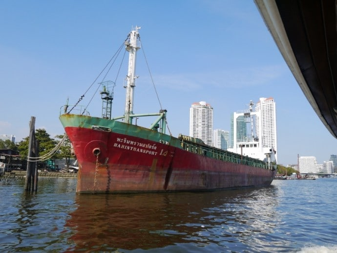 A Ship Moored Near The Anantara