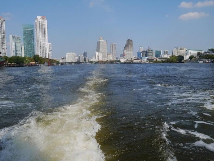 View Of Bangkok From Anantara Boat