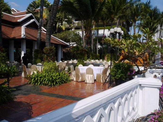A Function On The Terrace At Anantara Riverside Resort
