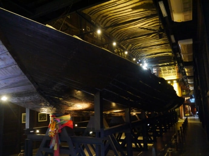 Large Wooden Boat Dug Up At The Site Of The Museum
