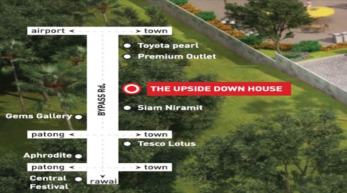 Upside Down House Map