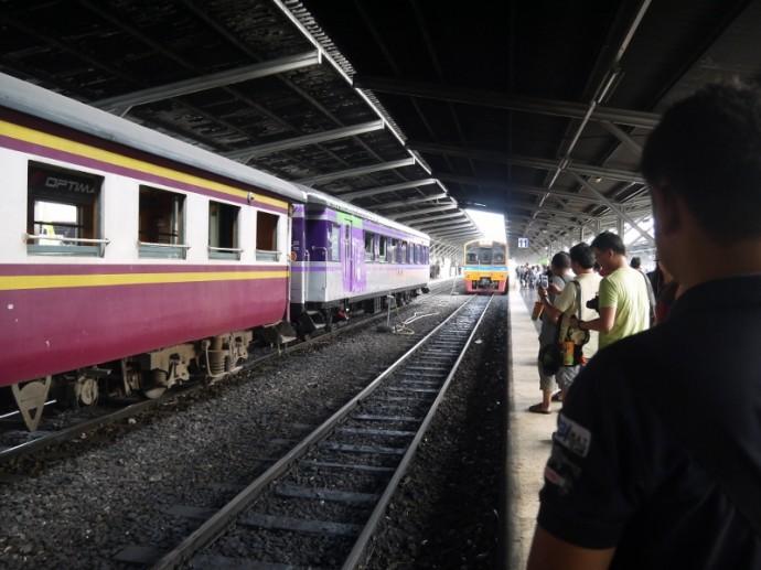 Bangkok To Korat Train Arriving In Bangkok