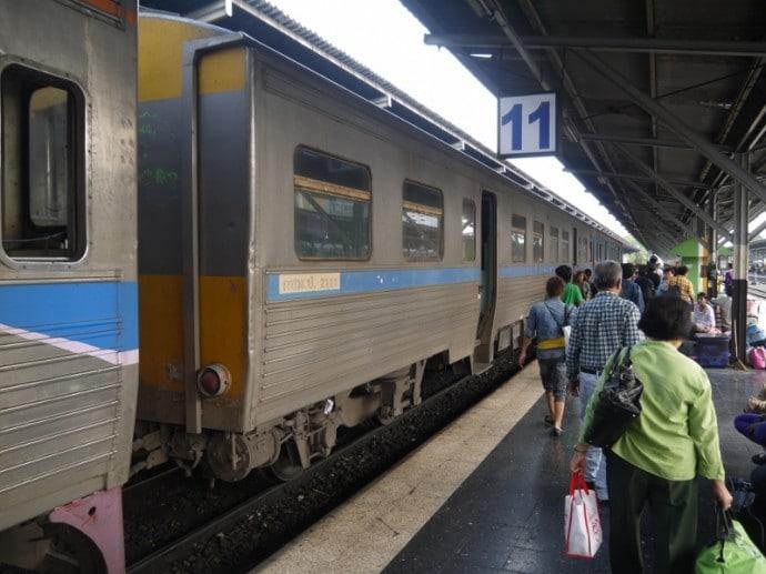 Bangkok To Korat Train At Platform 11
