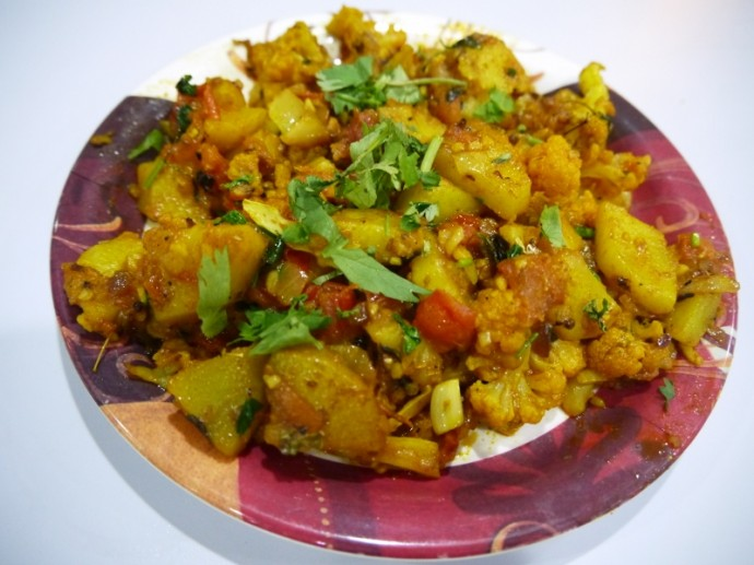 Aloo Gobi At Dicksons, Little India, Singapore