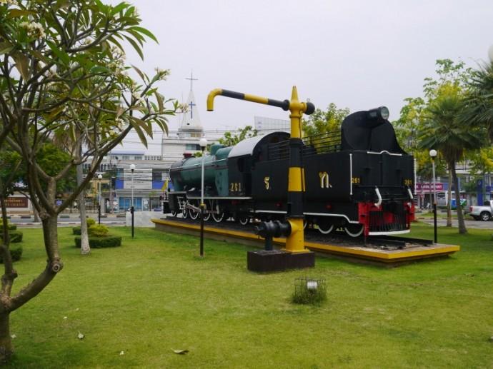 Train Outside Korat Station