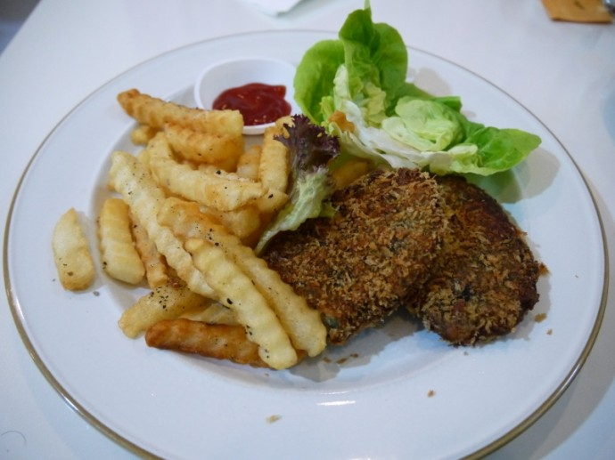 Vegetarian Fish & Chips At Veggie Cottage Cafe, Singapore