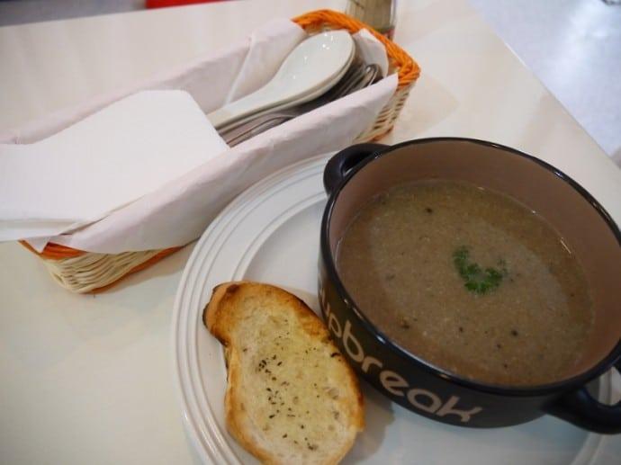 Mushroom Soup & Toasted Bread