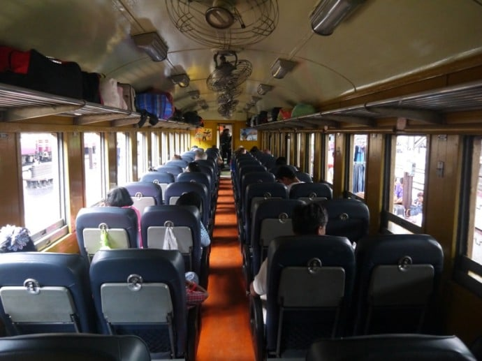 Fan Carriage On Bangkok To Hua Hin Train
