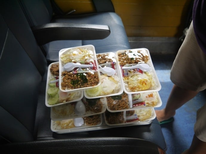 Food For Sale On The Bangkok To Hua Hin Train