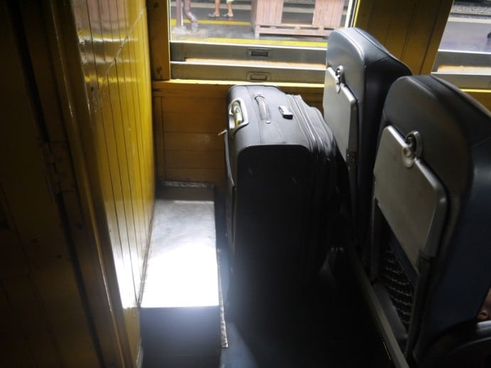 Luggage Space On The Bangkok To Hua Hin Train