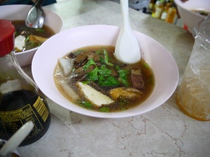 Noodle Soup At Ming Ter Vegetarian Restaurant, Korat