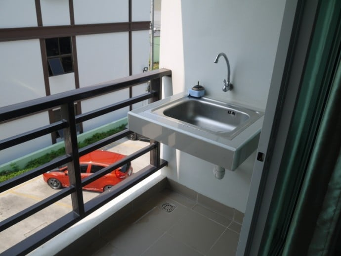 Balcony With Sink At Sawairiang Place Hotel, Korat