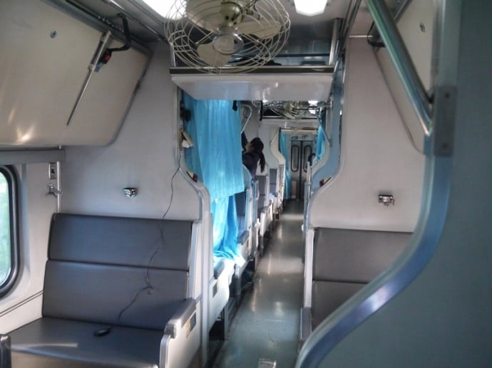 Sleeper Carriage On Bangkok To Butterworth Train