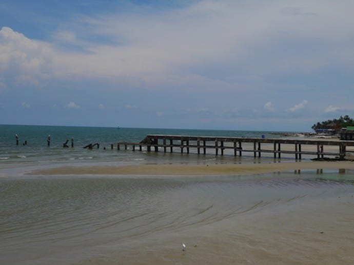 Pier Disappearing Into The Sea, Hua Hin