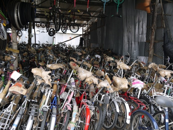 Secondhand Bikes At Chong Chom Border Market