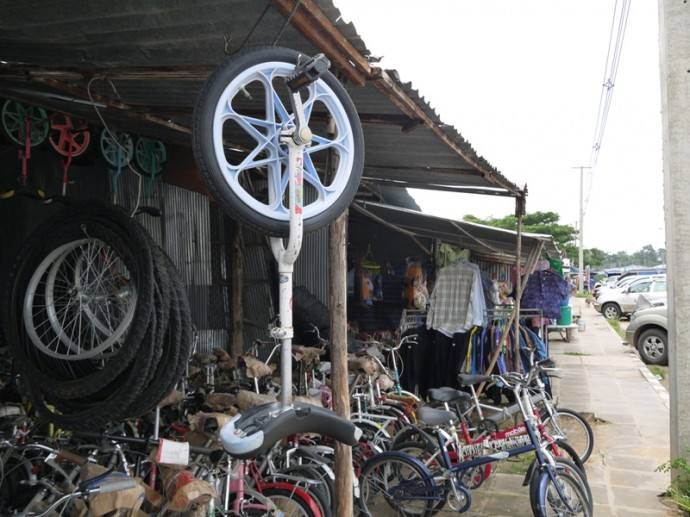 Unicycle For Sale At Chong Chom Market