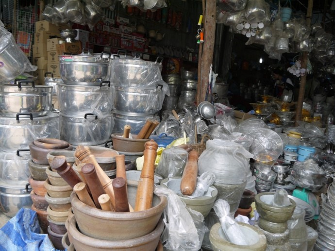 Kitchen Equipment At Chong Com Border Market, Surin