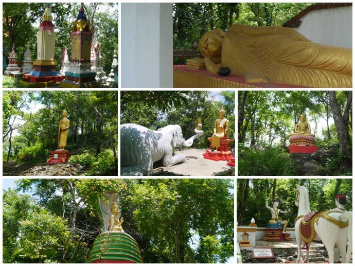 Buddha Images At Phanom Preah In Surin, Thailand
