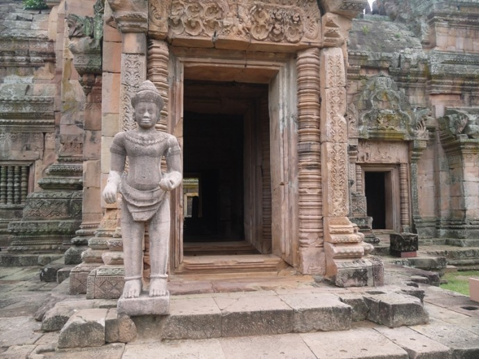 Guarding The Entrance At Phanom Rung