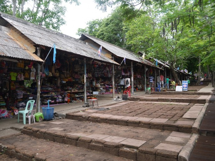 Shops At Entrance To Phanom Rung