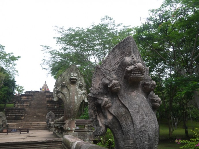 Stairway With 5-Headed Serpents At Phanom Rung