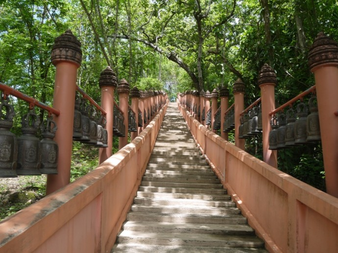Steps Leading To Buddha Image At Phanom Sawai Forest Park