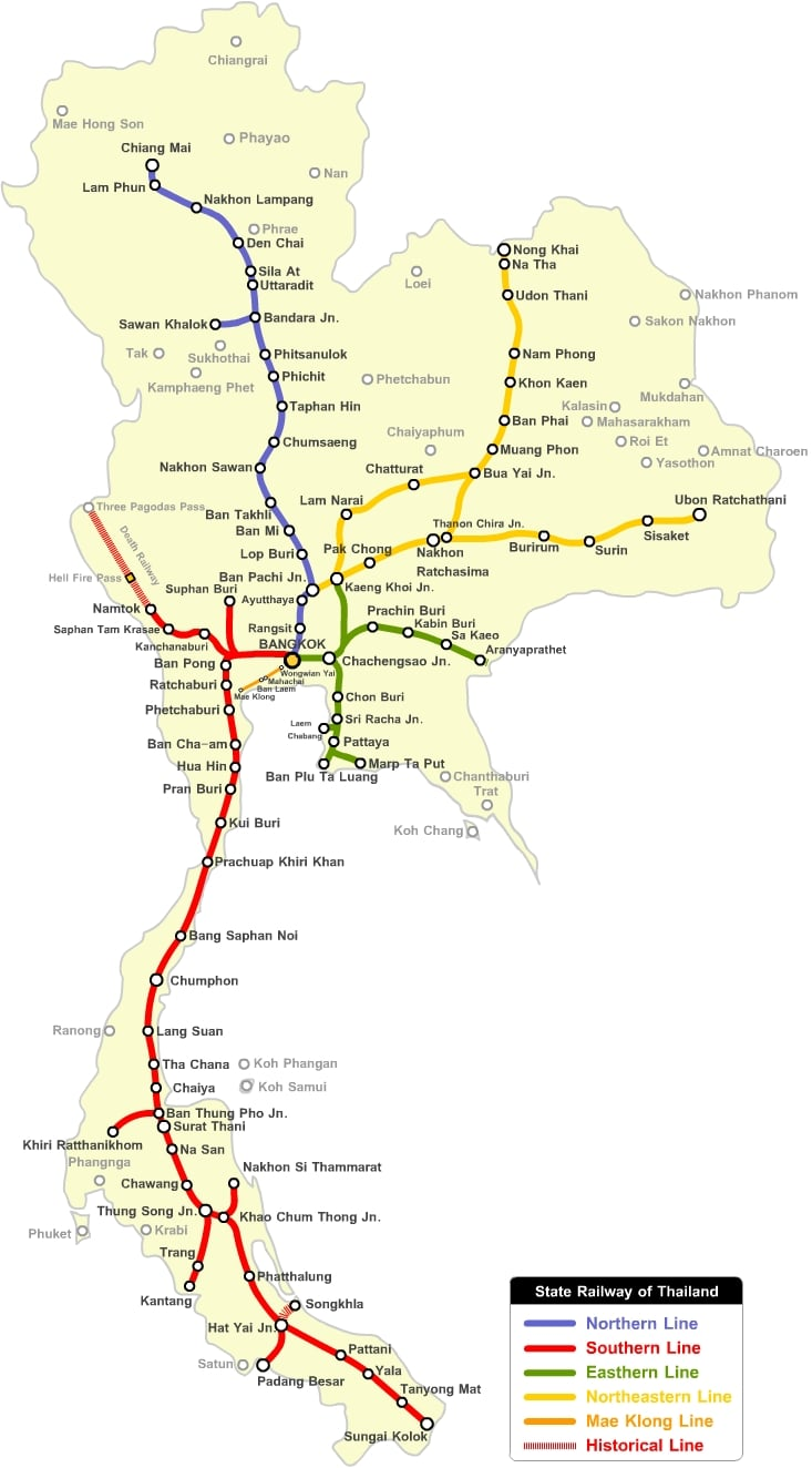 Thailand Rail Network