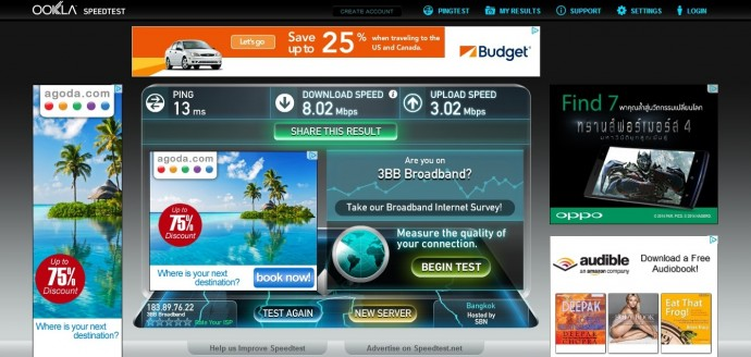 Wifi Speed Test At Better Place, Ubon Ratchatani