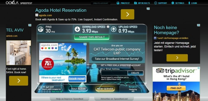 Wifi Speed Test At BK Place Hotel, Bueng Kan