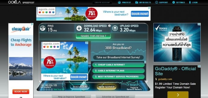 Very Fast Wifi At City Inn, Udon Thani