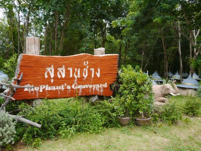 Elephant Graveyard Sign, Surin Province