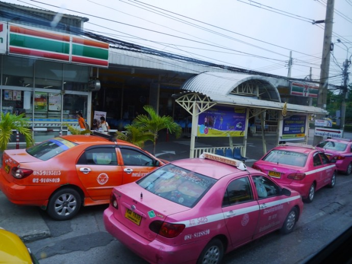 Taxis At Nakhonchai Air's Mo Chit Bus Station