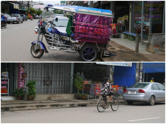 Getting Around Nong Khai By Tuk Tuk And Bicycle