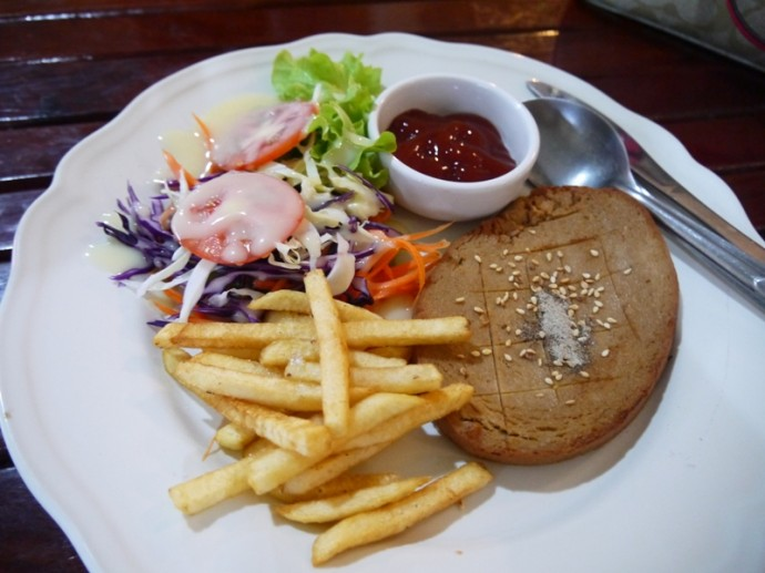 Veggie Steak & Chips At Phuza Cafe, Ubon Ratchathani