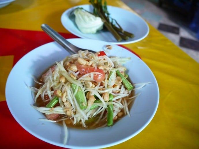 Somtum At Ruen Thai Vegetarian, Khon Kaen, Thailand