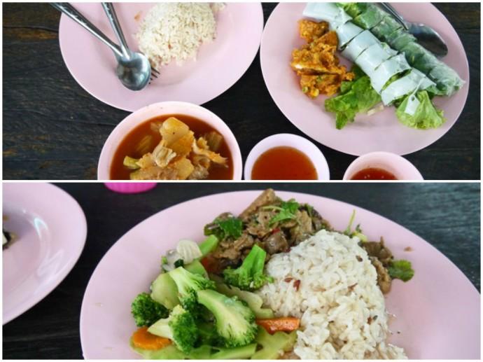 Lunch At Tawanthong Vegetarian, Khon Kaen, Thailand