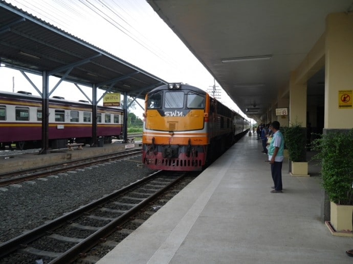 Our Train Arriving At Udon Thani Station