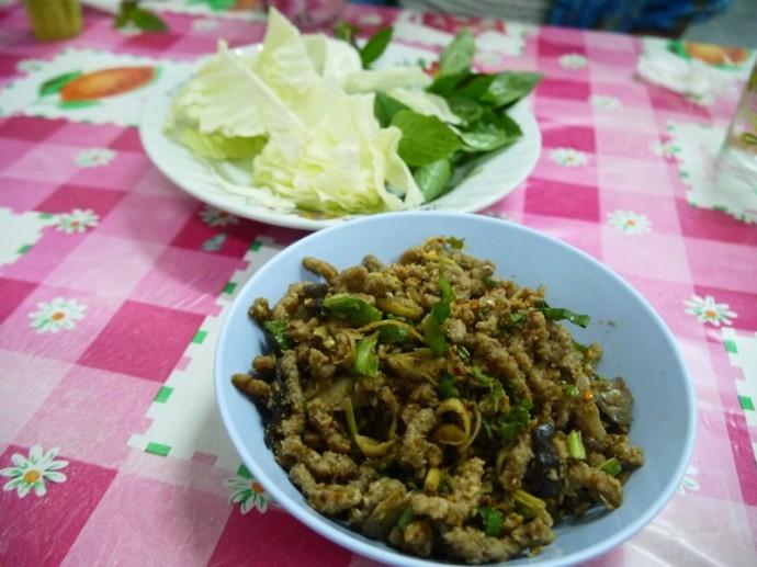 Vegetarian Larb In Bueng Kan, Thailand