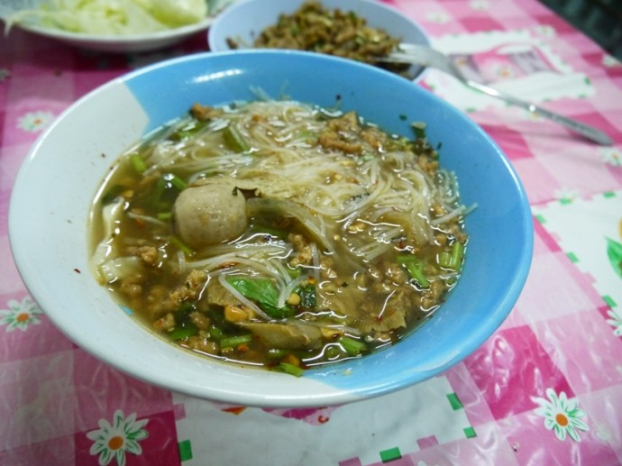 Vegetarian Noodle Soup In Bueng Kan, Thailand