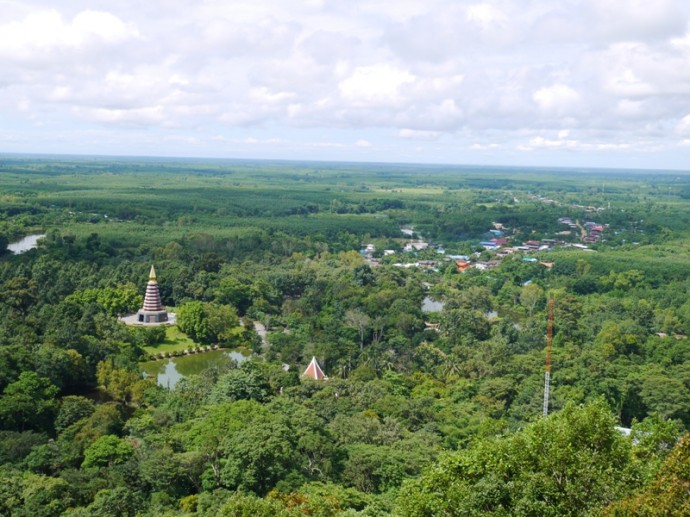 View Of Marble Chedi And Village